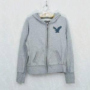 American Eagle Full Zip Hoodie Sweatshirt M